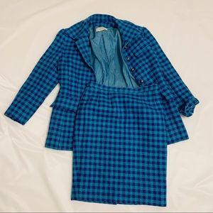 Guy Laroche Vintage 2 Piece Plaid Suit M/L